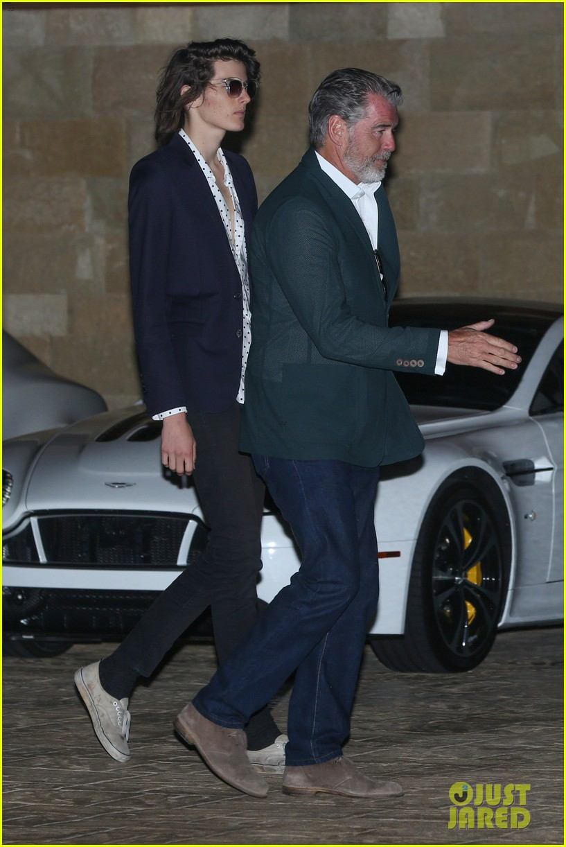 Dylan Brosnan Looks Suave for July 4th Party with Dad ...  Pierce Brosnan Son And Noah Cyrus