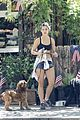 danielle campbell hike with her dogs 06