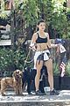 danielle campbell hike with her dogs 13