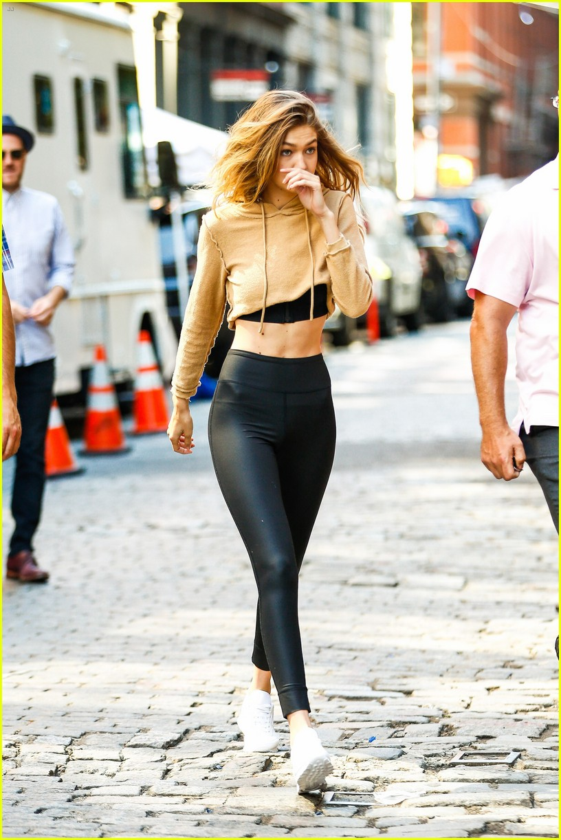 gigi hadid hits the gym for reebok shoot 35