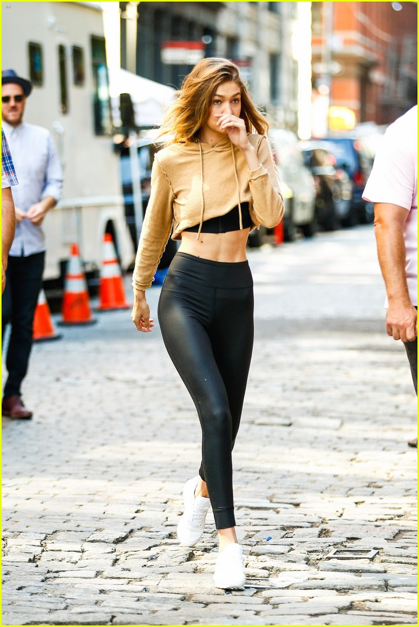 gigi hadid hits the gym for reebok shoot 36
