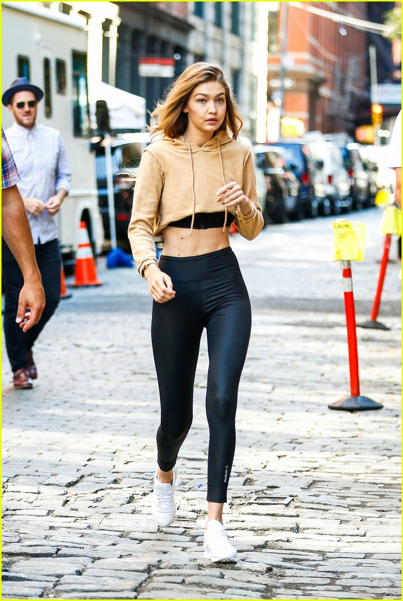 gigi hadid hits the gym for reebok shoot 37
