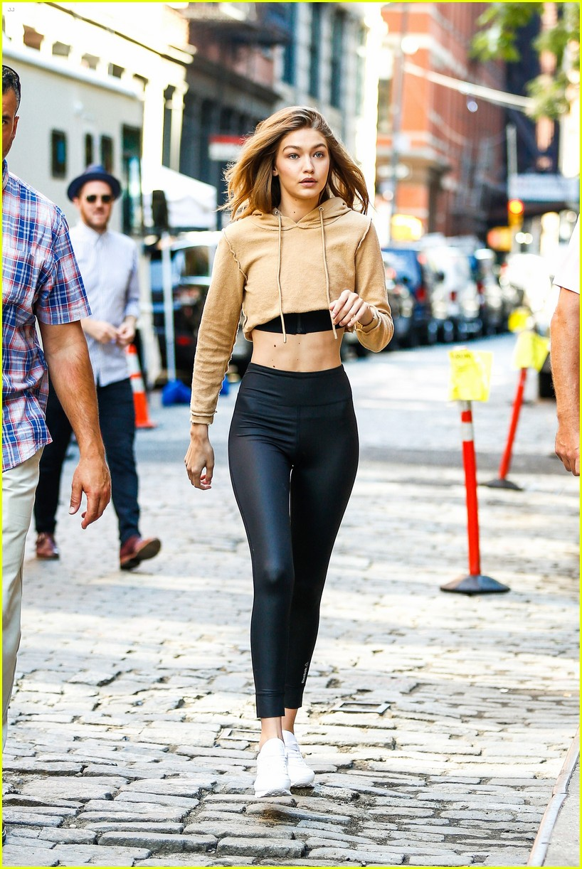 gigi hadid hits the gym for reebok shoot 39