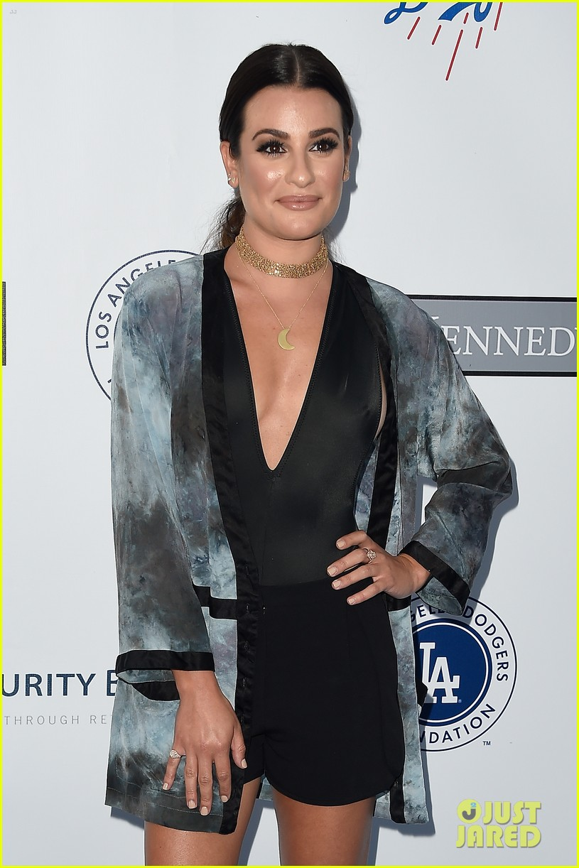 lea michele taylor lautner chace crawford dodgers fdn gala 01
