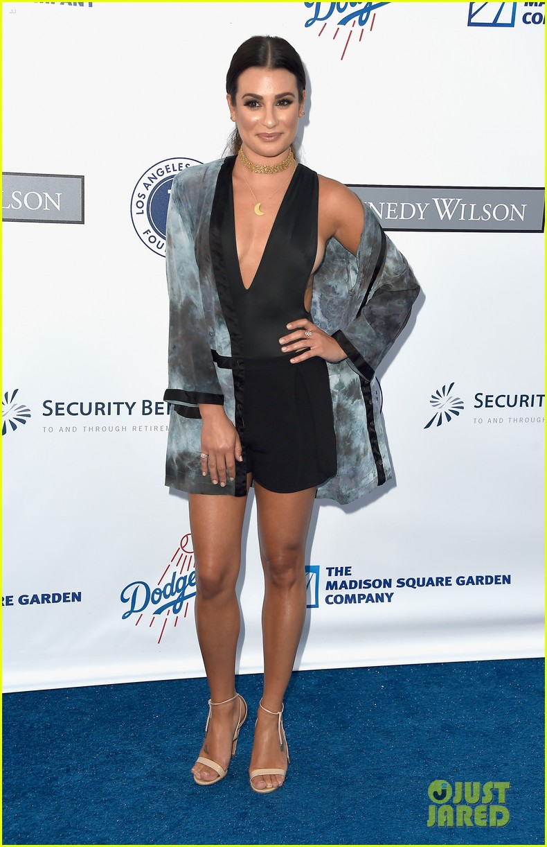 lea michele taylor lautner chace crawford dodgers fdn gala 08