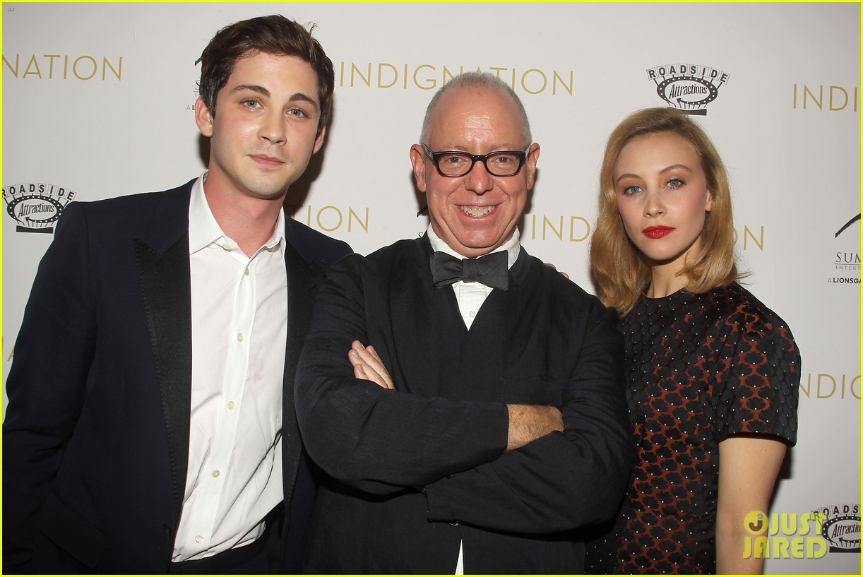 logan lerman sarah gadon bring indignation to nyc 25