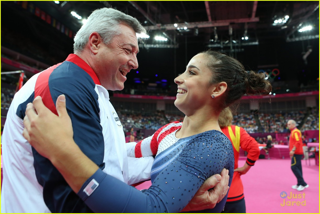 Aly Raisman Gives Olympic Gold Medal To Coach Mihai