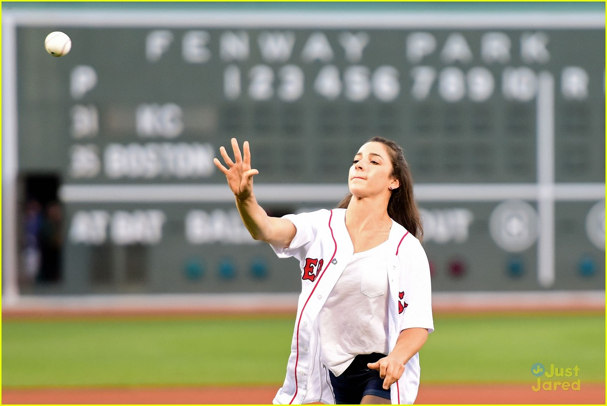 Aly Raisman Turns David Ortiz Into Medal Holder at Boston Red Sox