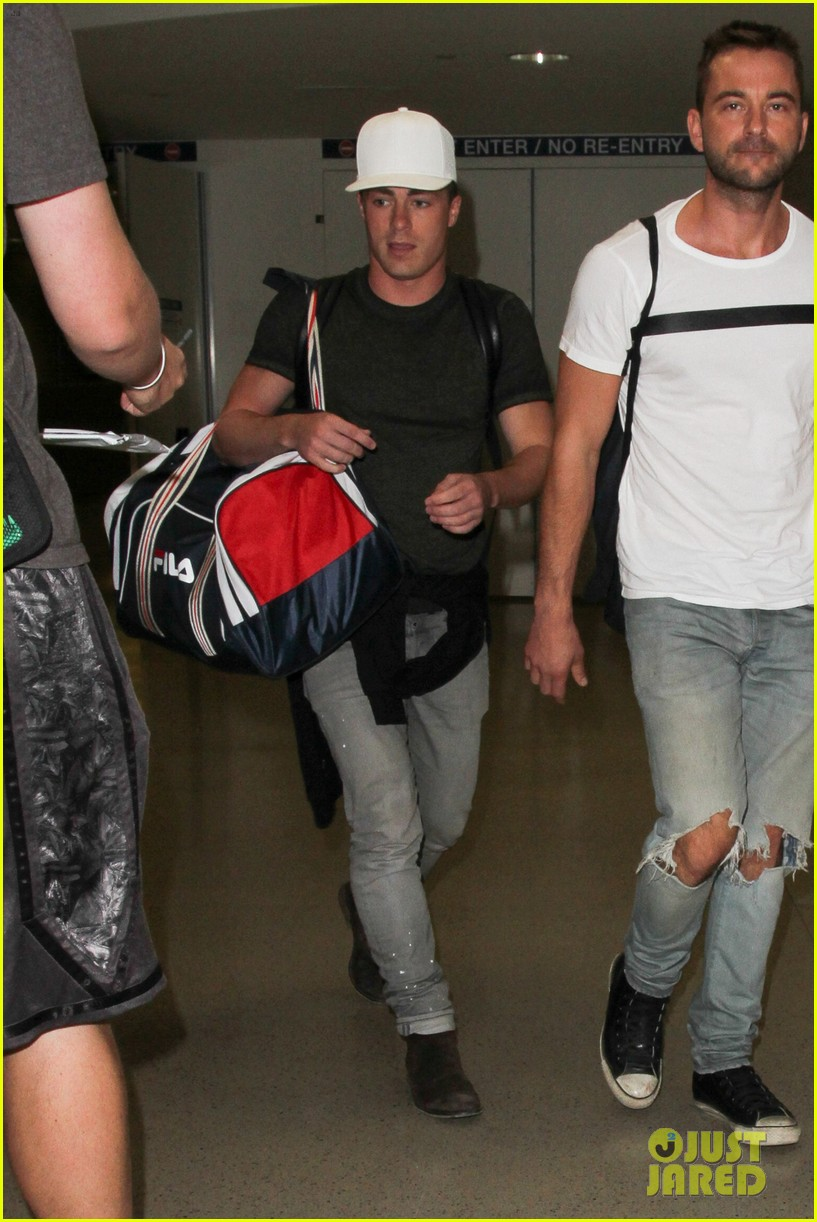 colton haynes arrives back at lax76306