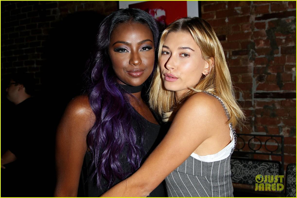 Hailey Baldwin Parties With Birthday Girl Justine Skye In New York