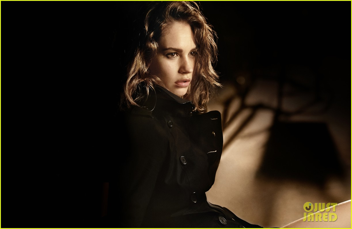 lily james burberry campaign 09