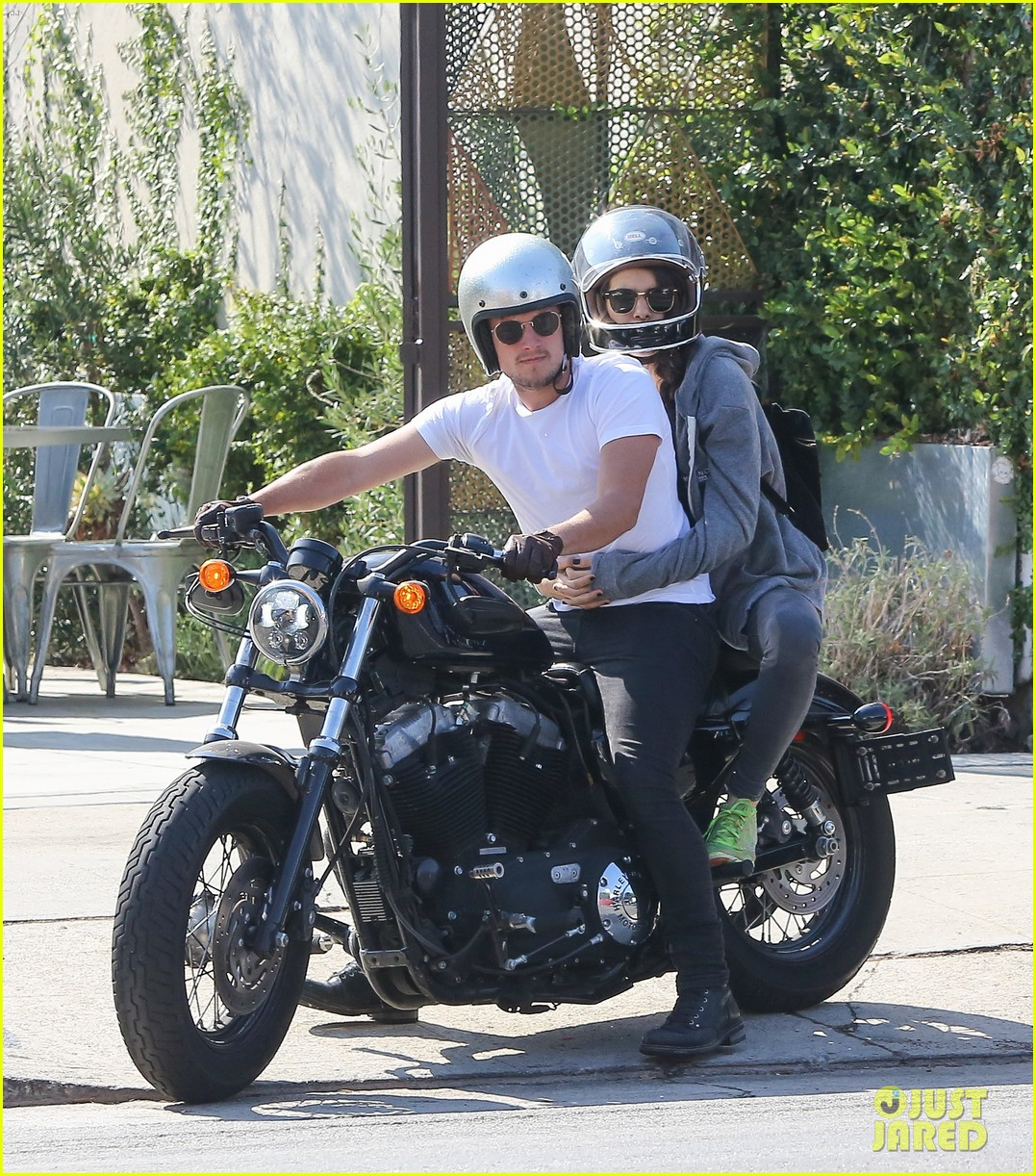josh hutcherson girlfriend claudia traisac ride around on his motorcycle04118mytext