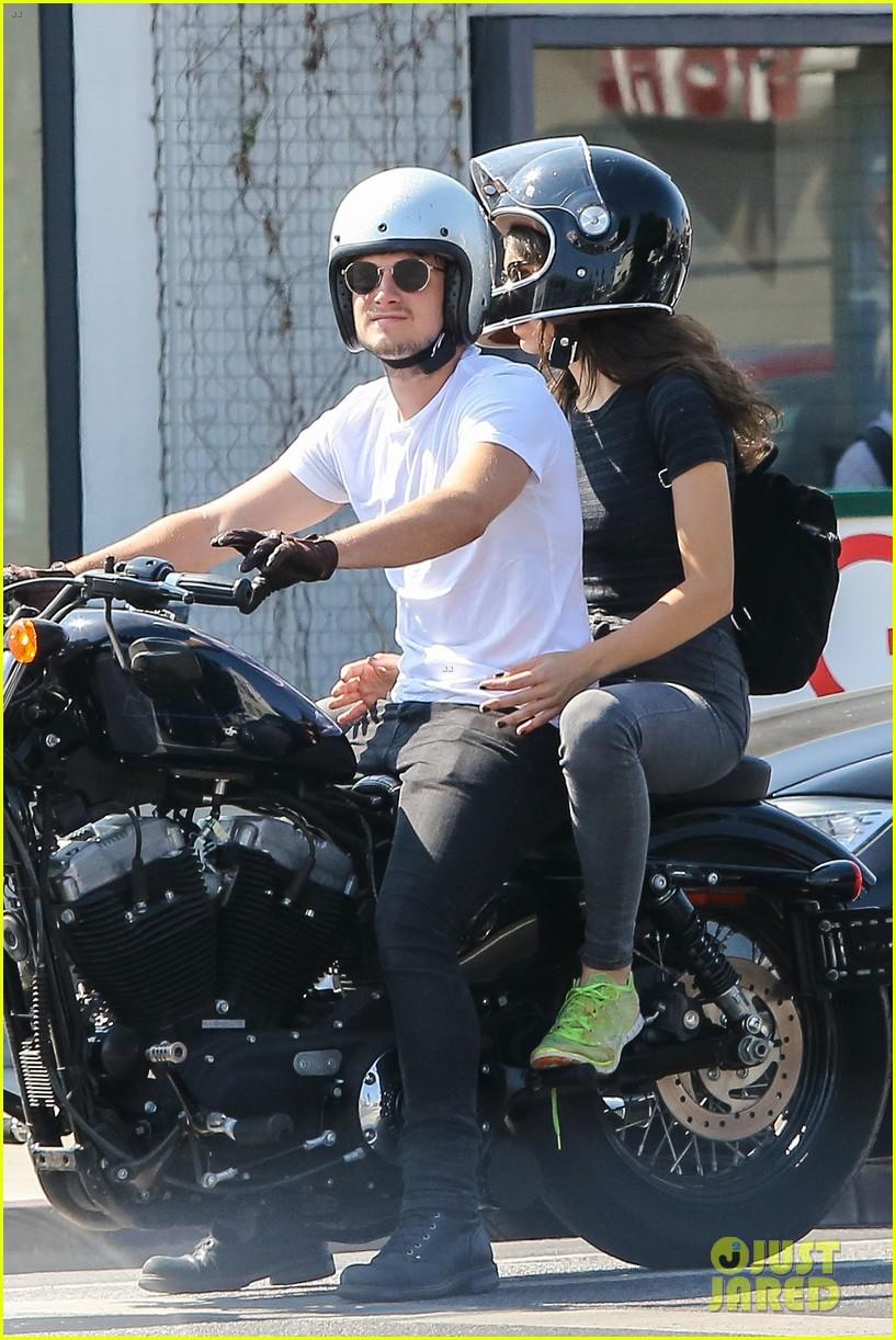 josh hutcherson girlfriend claudia traisac ride around on his motorcycle202mytext