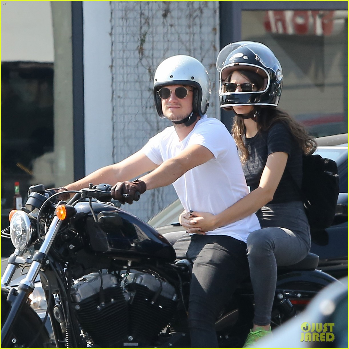 josh hutcherson girlfriend claudia traisac ride around on his motorcycle303mytext