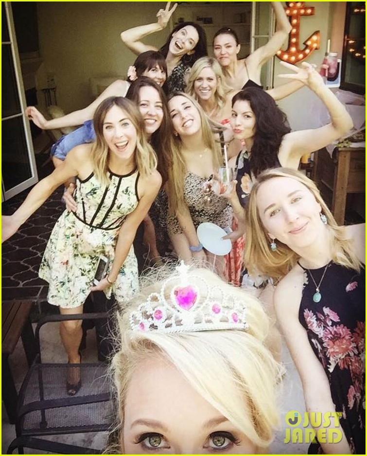Anna Camp Wedding.Brittany Snow Hosts Combined Bachelor Bachelorette Party For Bffs