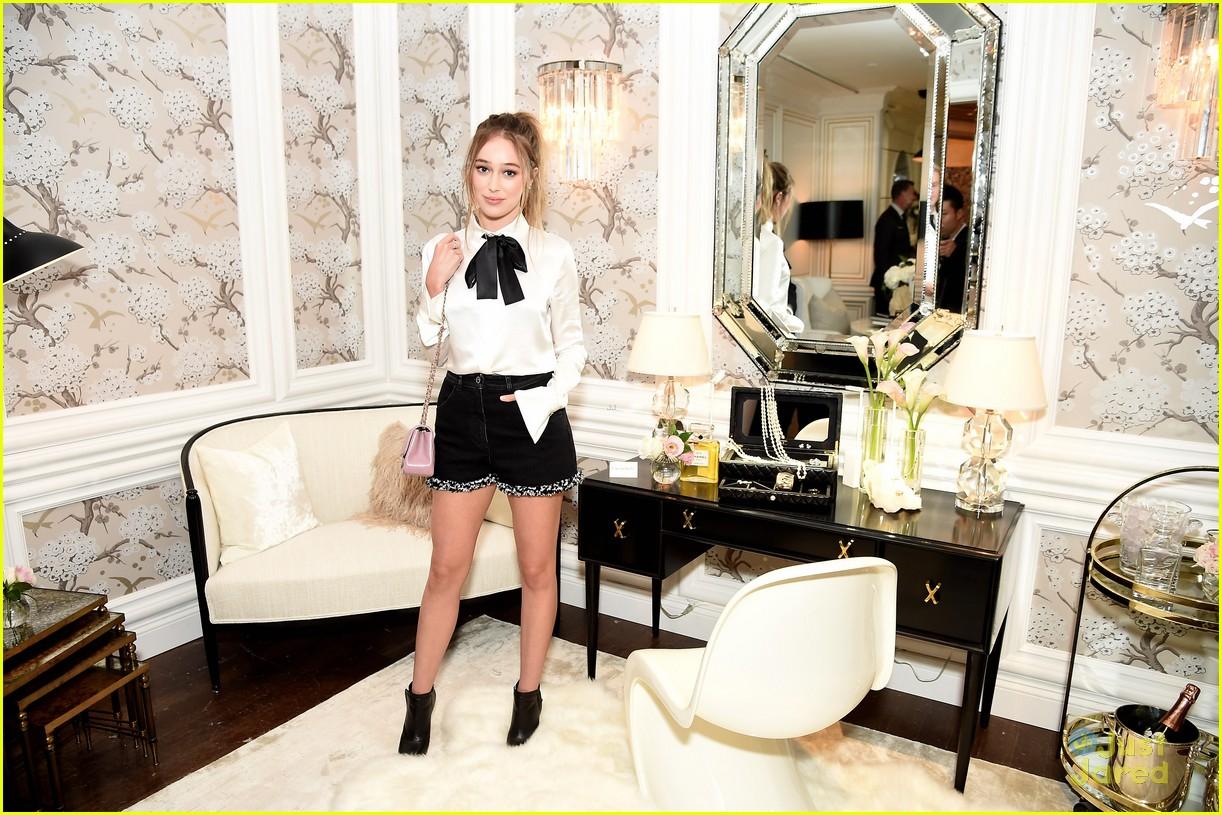 Alycia DebnamCarey Ellie Bamber Step Out for Chanels Fine