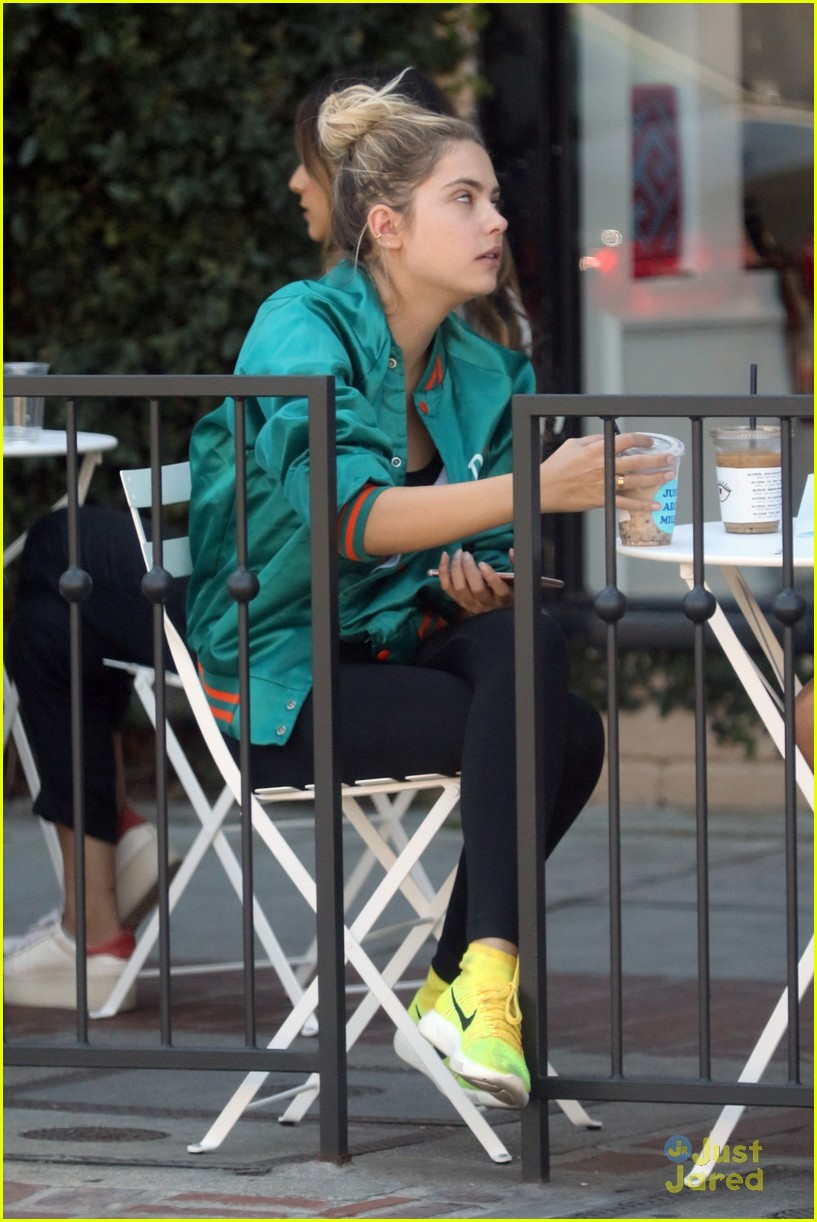 ashley benson shares pll msgs norman charlie dolphins jacket 02