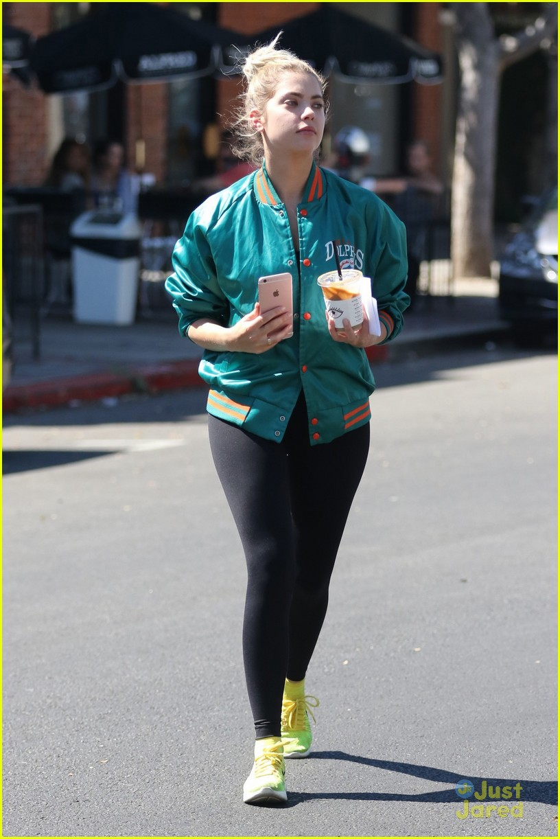 ashley benson shares pll msgs norman charlie dolphins jacket 14