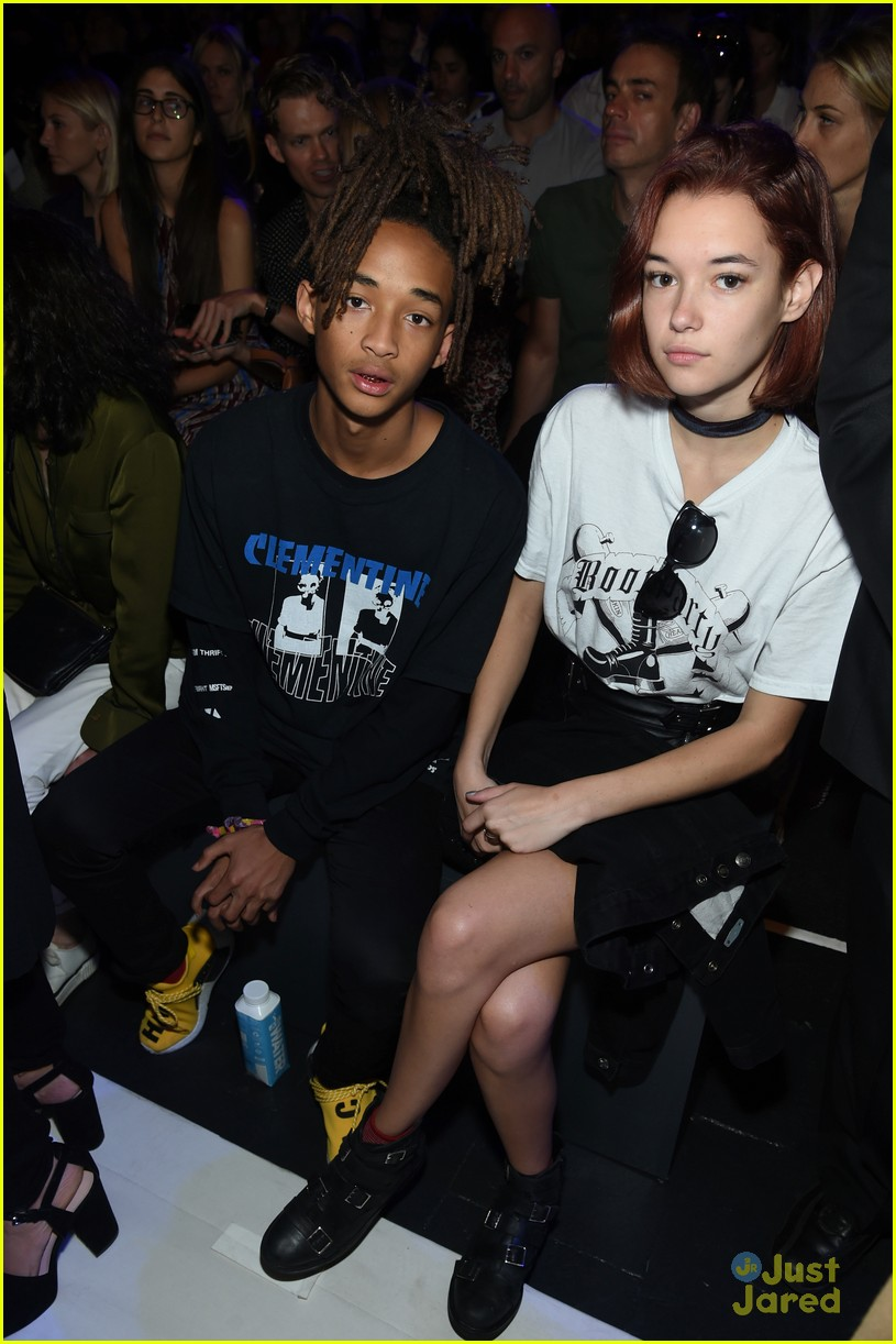jaden smith sarah snyder front row hood by air nyfw 11