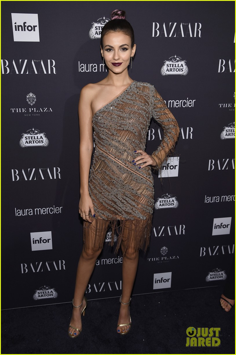 victoria justice peyton list barbara palvin more harpers icons event 16