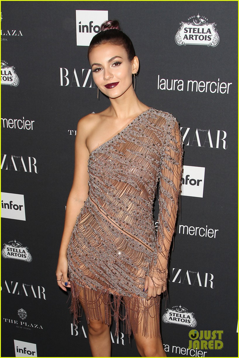 victoria justice peyton list barbara palvin more harpers icons event 41