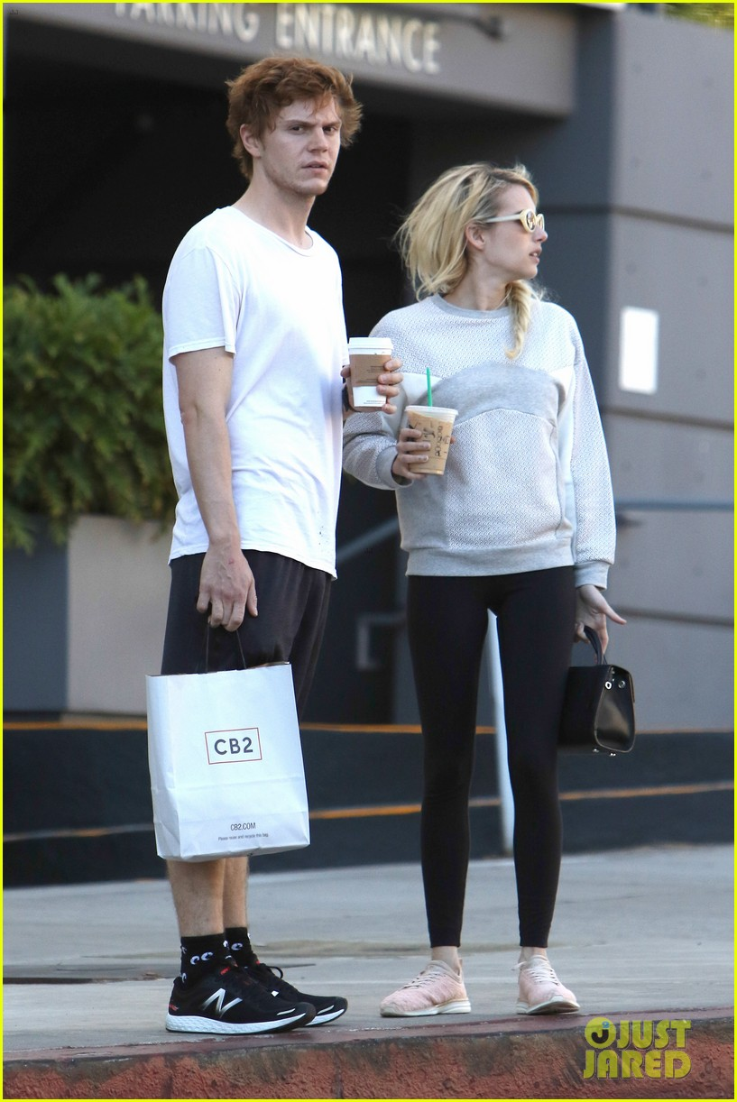 Emma Roberts & Evan Peters Step Out Together in LA   Photo ...