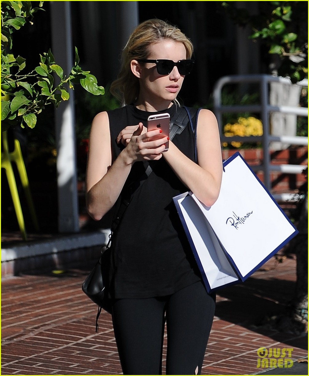 emma roberts hilariously blames john stamos for being too loud on cream queens set 05