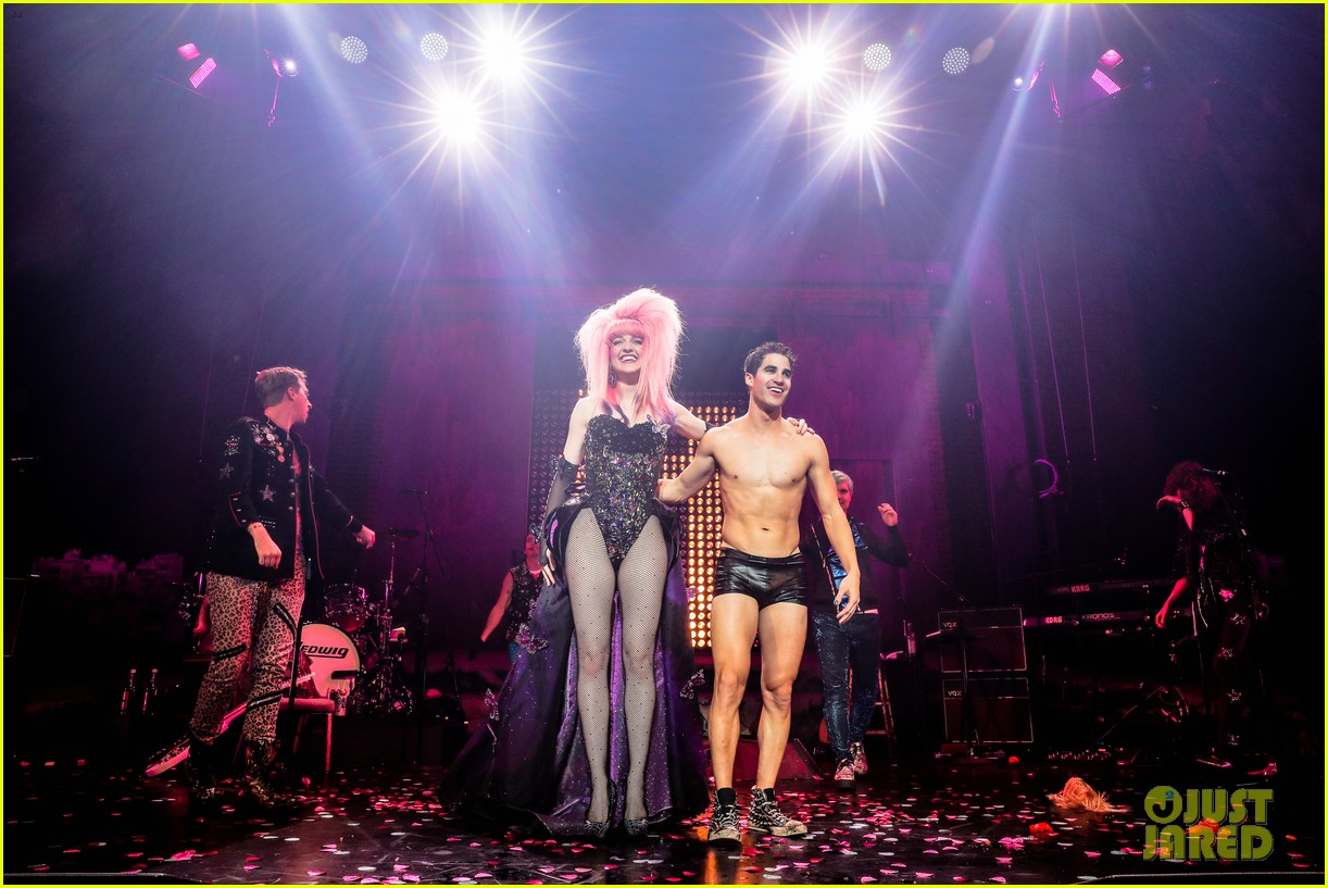 darren criss bares ripped body during hedwig opening night 01