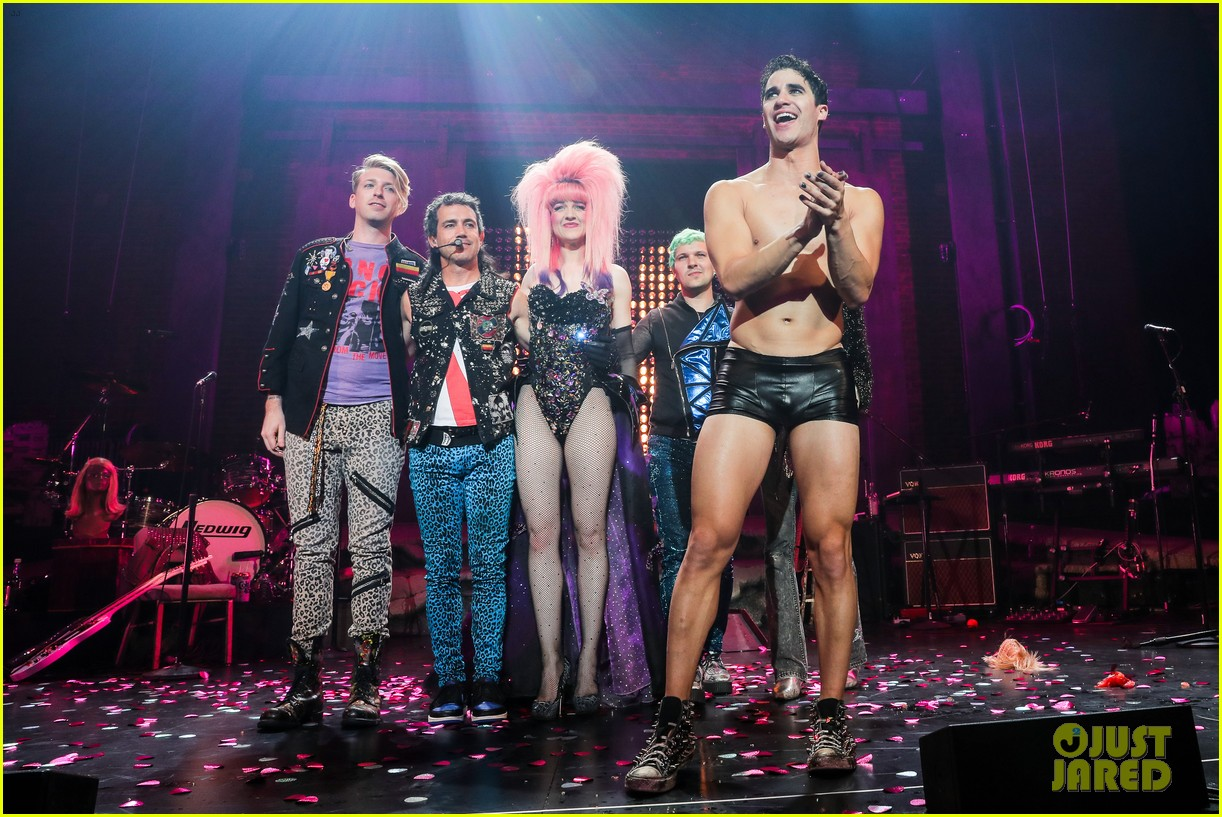 darren criss bares ripped body during hedwig opening night 03