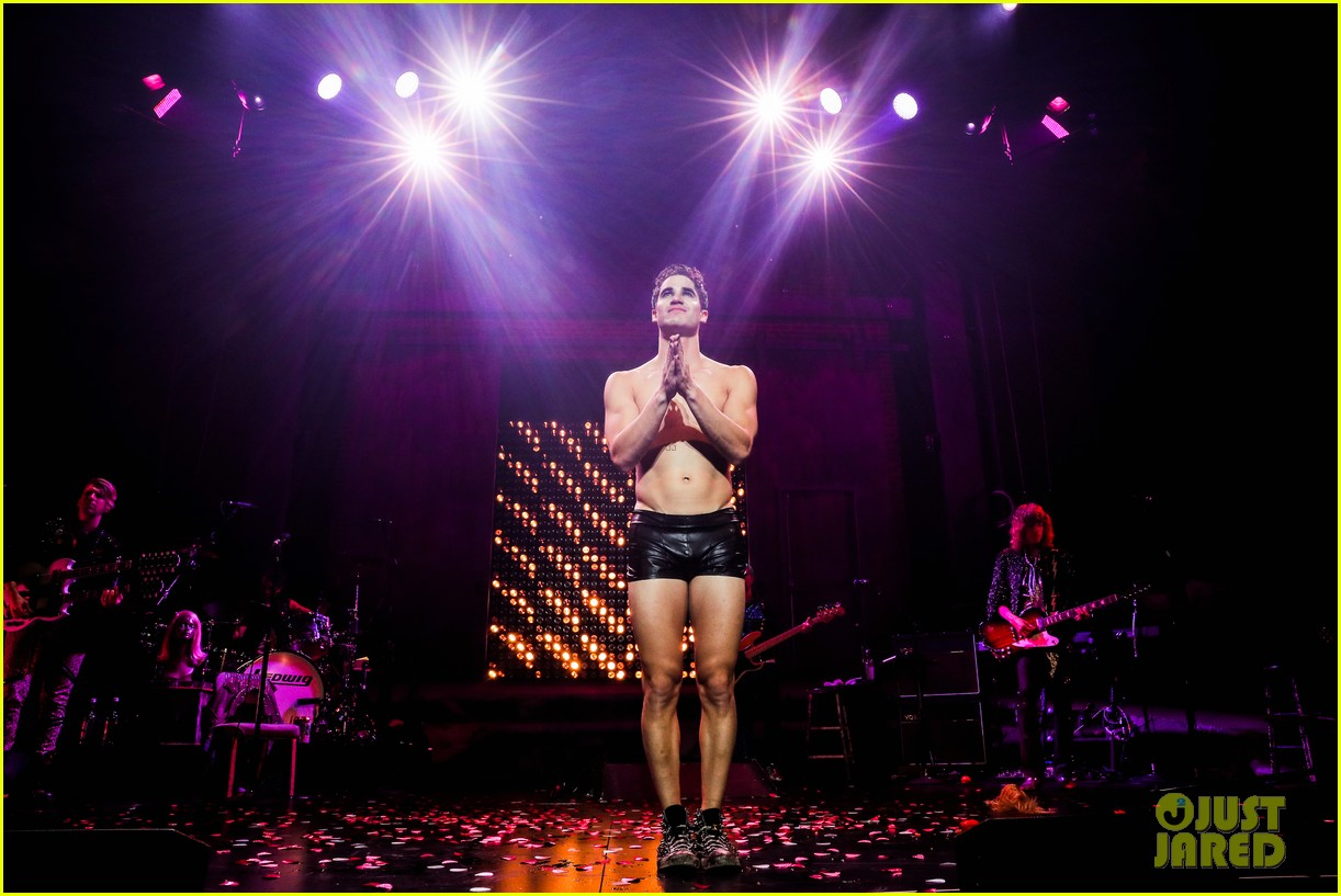darren criss bares ripped body during hedwig opening night 08