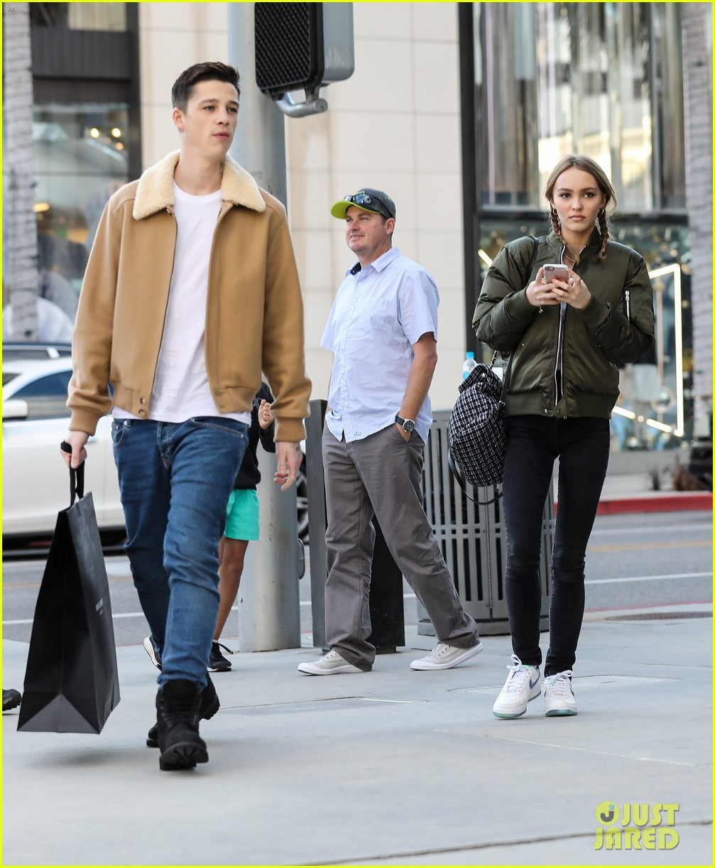 2be12da90012 Lily-Rose Depp Gets in Some Hang Time With Boyfriend Ash Stymest ...