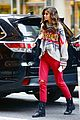 taylor hill heads to a victorias secret fashion show fitting 06