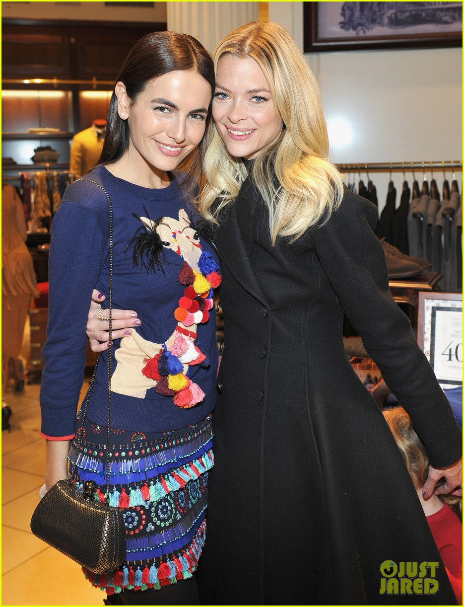 camilla belle jaime king buddy up at brooks brothers holiday event 21