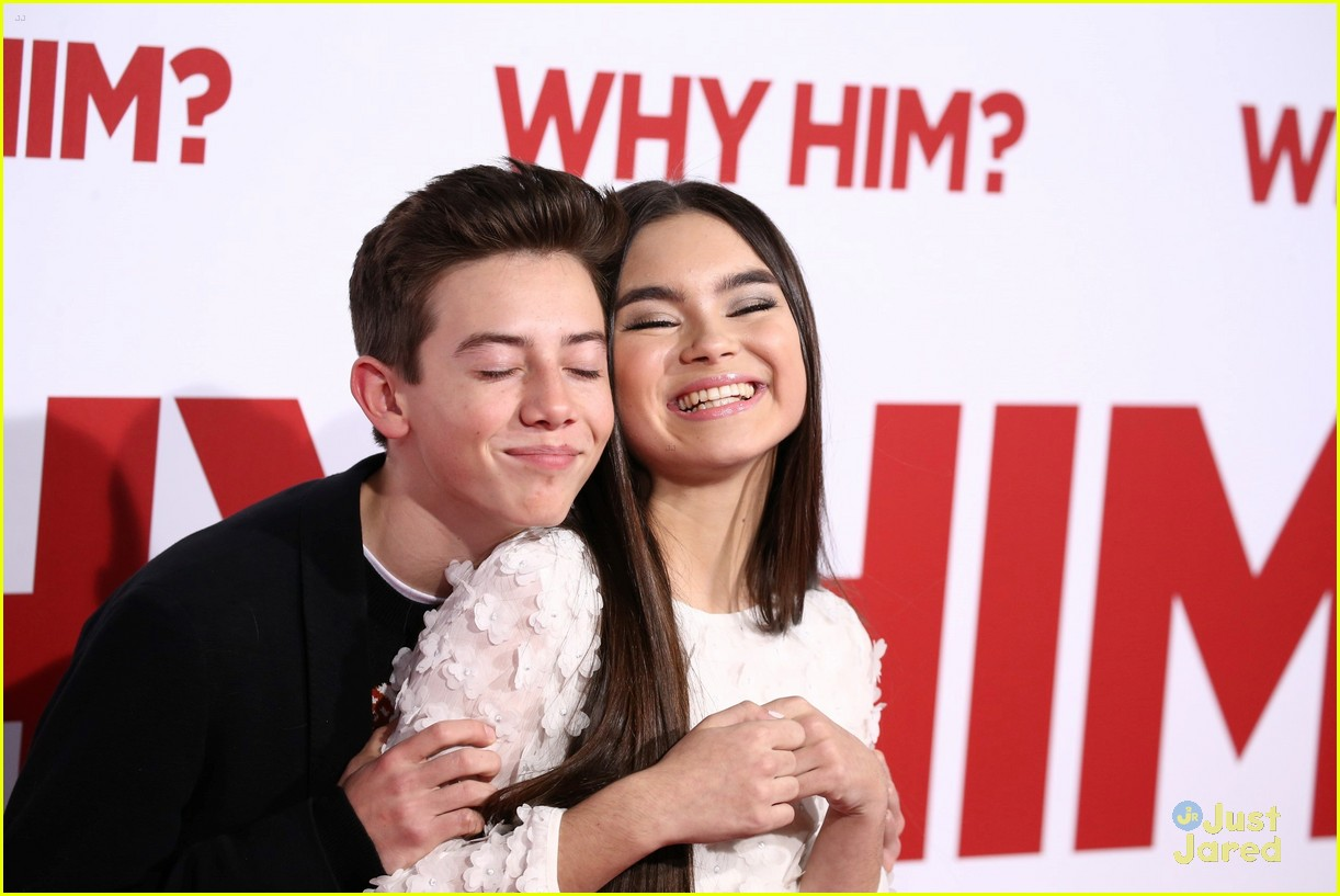 griffin gluck tries to photobomb landry bender the pics are as