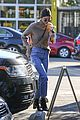 kendall jenner brings her christmas puppy to lunch 08
