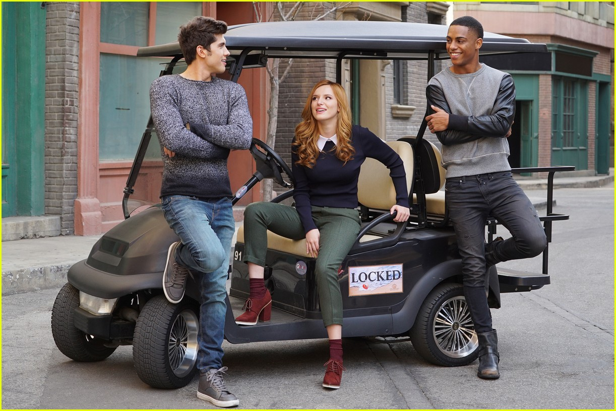 bella thorne is gearing up for the famous in love premiere see the new cast portraits 02