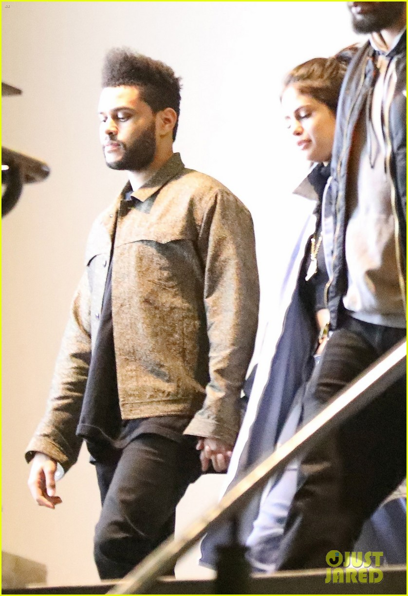 selena gomez the weeknd hold hands date night 01