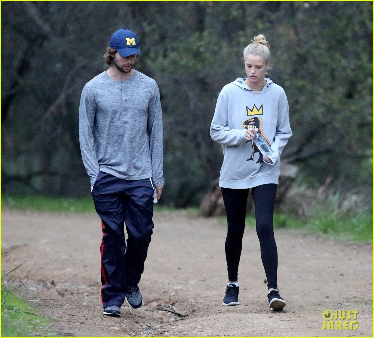 patrick schwarzenegger and abby champion cuddle on the beach together 12
