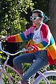 bella thorne color bike ride rainbow 04