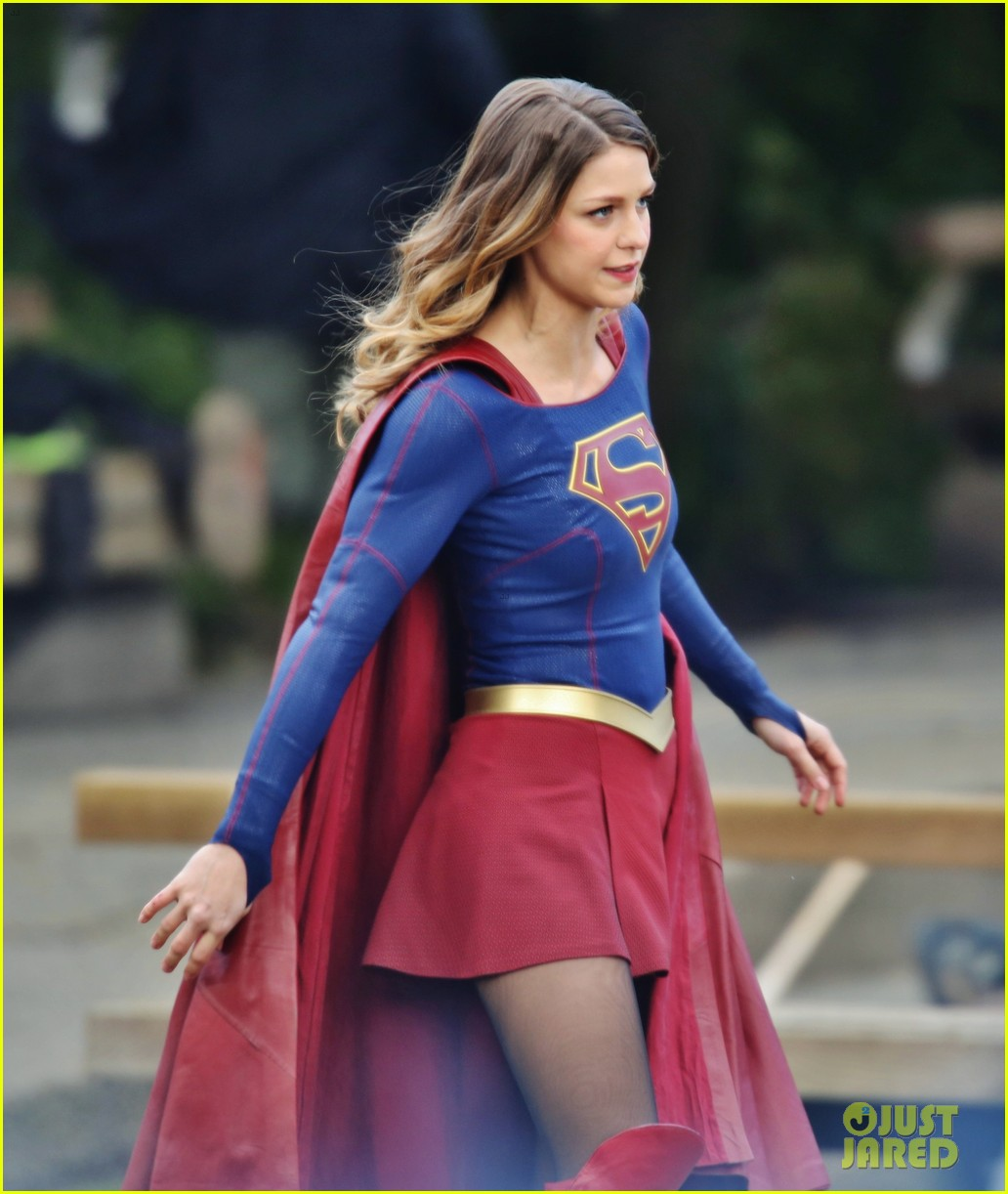 Melissa Benoist Fights A Monster While Filming New