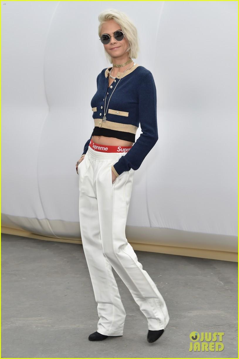 cara delevingne lily rose depp chanel paris fashion week 08