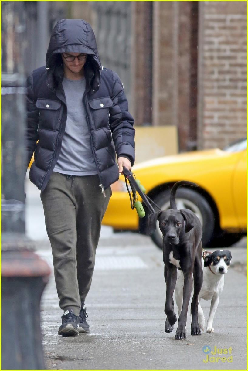 chris wood walks melissa benoist dog 01