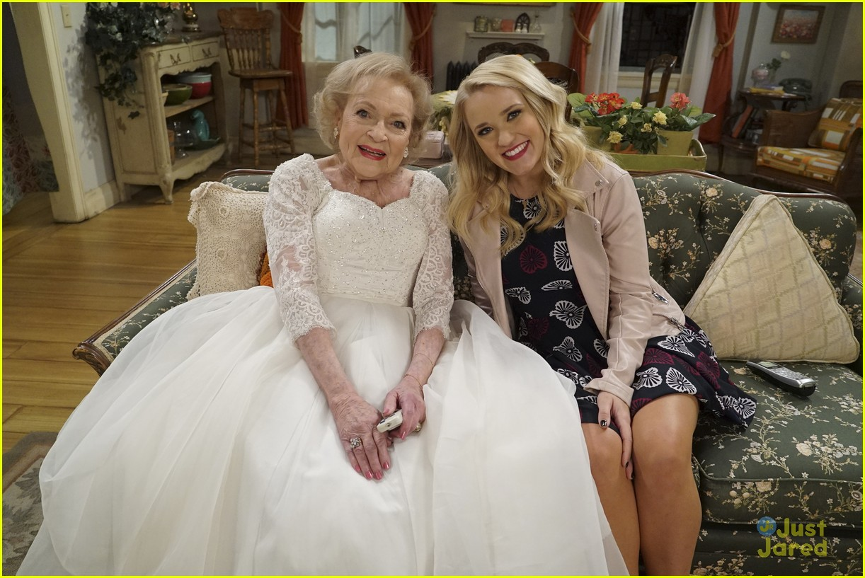 emily osment wedding dress episode betty white young hungry 29