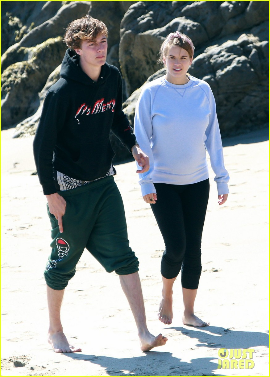 Lucky Blue Smith Stormi Bree Spend The Afternoon At The Beach
