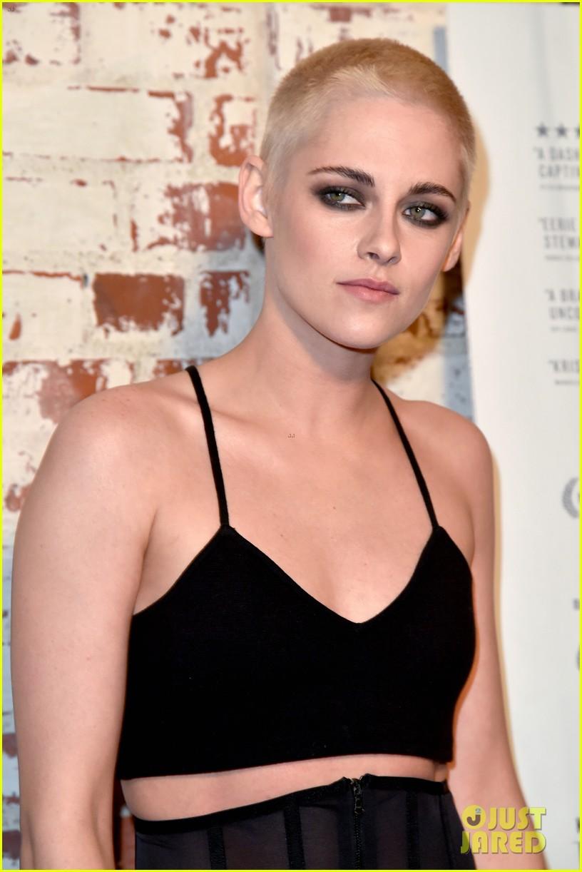 Kristen Stewart Cuts All Her Hair Off Dyes Shaved Head Blonde