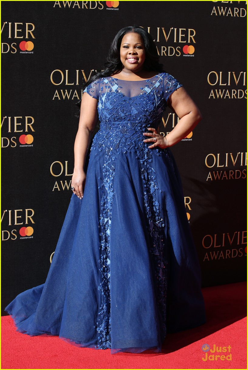 amber riley wins olivier awards glee cast freaks out 05