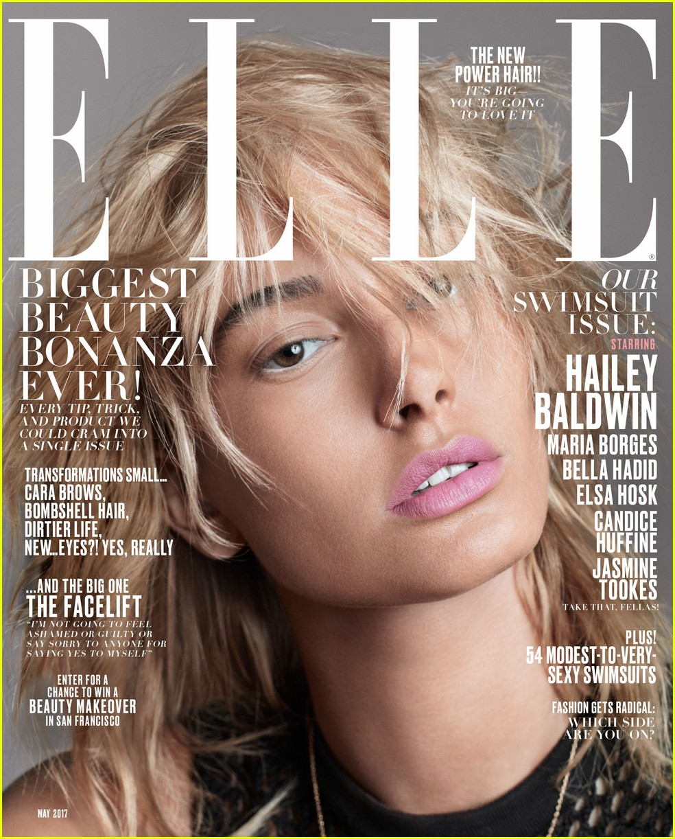 bella hadid hailey baldwin elle cover 02
