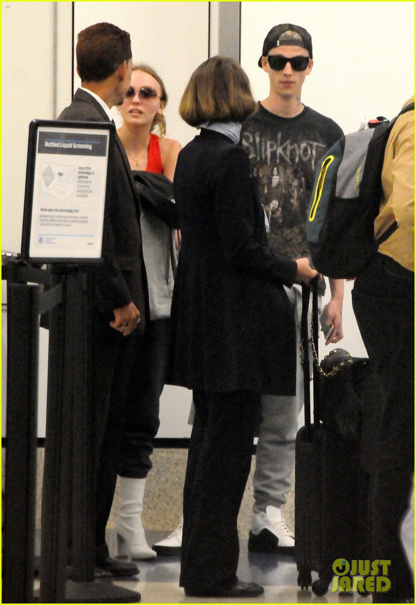 lily rose depp and ash stymest head out of town for a getaway 05