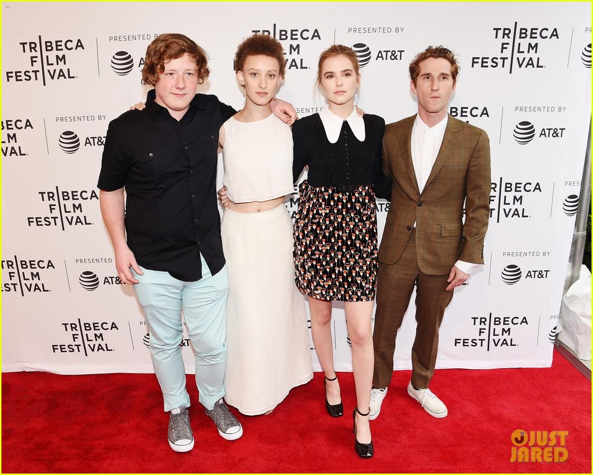 zoey deutch premieres new movie flower at tribeca film festival 06