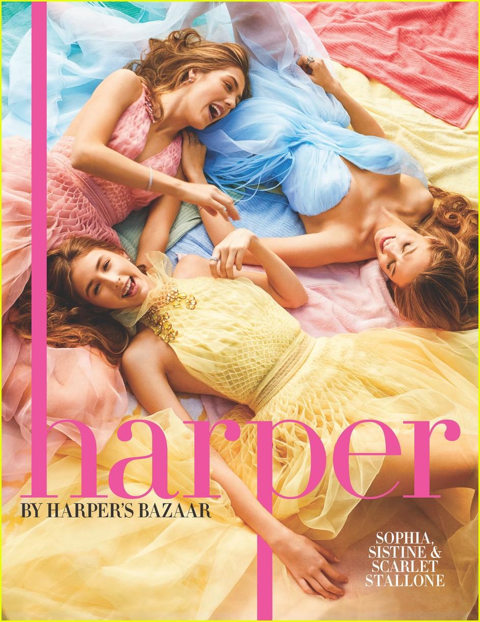 stallone sisters harpers bazaar 01